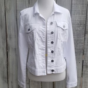 NEW Kut from the kloth MP NWT Jean Jacket White